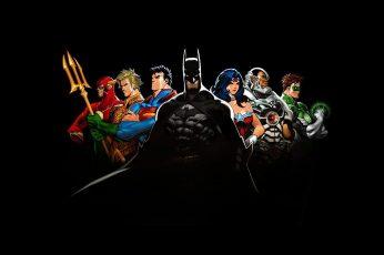 Justine League Digital Wallpaper, Justice League