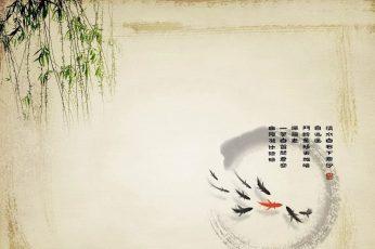 Wallpaper Koi, Artwork, Fish, No People, Wall Building