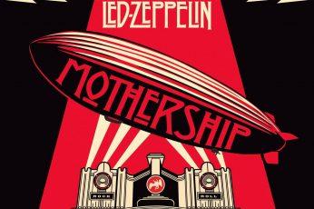 Wallpaper Led Zeppelin Mothership Album Cover, Band Music