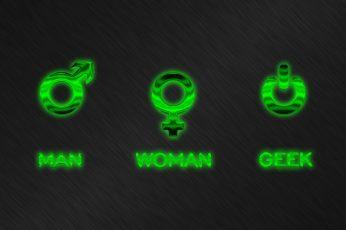 Wallpaper Man Woman Geek Logos, Humor, Men, Symbols
