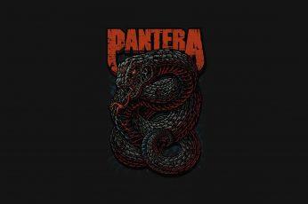 Wallpaper Pantera Logo, Music, Heavy Metal, Thrash Metal