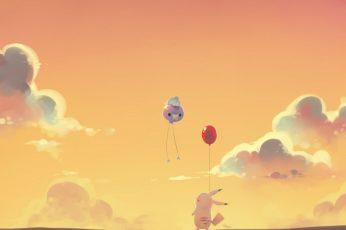 Pikachu Wallpaper, May Pokemon, Flying, Sky