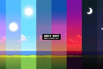 Wallpaper Pixel Art, 8 Bit, Multi Colored