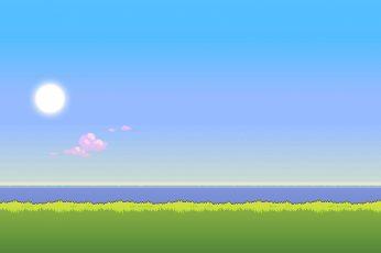 Wallpaper Pixel Art, 8 Bit, Sky, Beauty In Nature, Plant