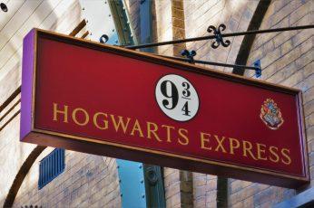 Wallpaper Platform 9 34 Hogwarts Express Signage, Harry Potter