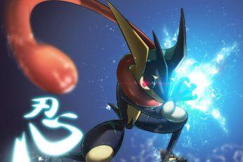 Wallpaper Pokemon Character, Pokémon, Greninja Pokémon