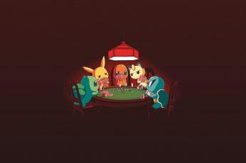 Wallpaper Pokemon Monster Illustrations, Pokémon, Poker