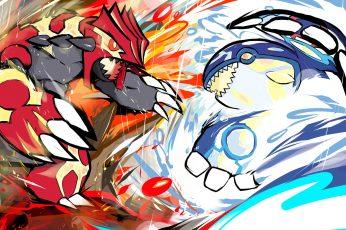Wallpaper Pokemon Painting, Ishmam, Pokémon, Groudon