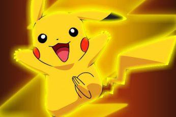 Wallpaper Pokemon Pikachu Illustration, Pokémon, Yellow