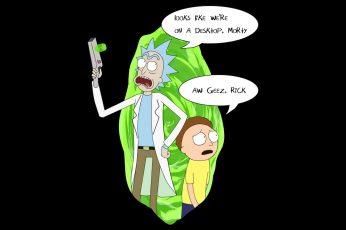 Wallpaper Rick And Morty, Cartoon, Rick Sanchez, Morty