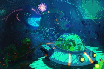 Wallpaper Rick And Morty Illustration, Tv, Adult Swim