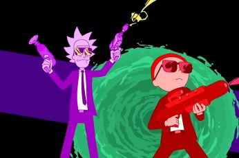 Wallpaper Rick And Morty, Run The Jewels, Vector Graphics