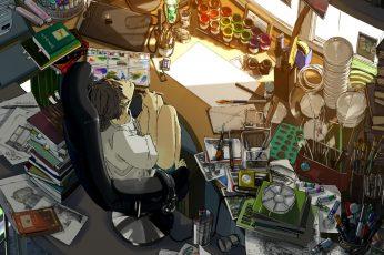 Wallpaper Room, Anime Girls, Original Characters, Clutter