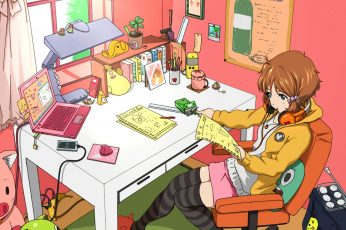 Wallpaper Room, Anime Girls, Tamako Market, Makino Kanna