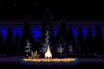 Wallpaper Shovel Knight, Video Games, Pixel Art, Retro Game