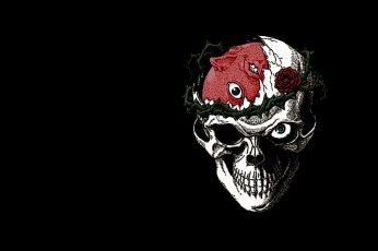 Skull Digital Wallpaper, Berserk, Manga, Beherit