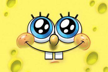 Wallpaper Spongebob, Cartoon, Yellow, Small, Tooth, Eyes