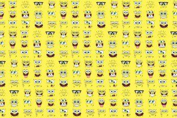 Wallpaper Spongebob Squarepants, Cartoon, Yellow, Collage