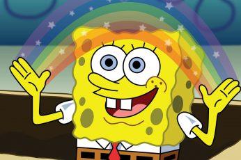 Wallpaper Spongebob Squarepants Rainbow Hd, Spongebob Square