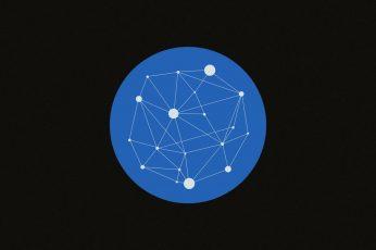 Wallpaper Star Constellations, Minimalism, Circle, Blue