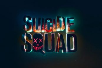 Wallpaper Suicide Squad Logo, Text, Movies, Night, Neon