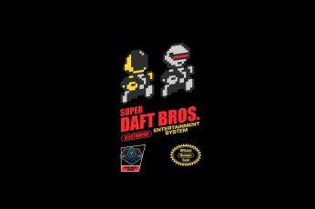 Wallpaper Super Daft Bros. Logo, Daft Punk, Music, 8 Bit