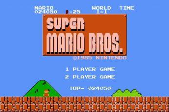 Wallpaper Super Mario Bros., 8 Bit, Retro Games, Video Game