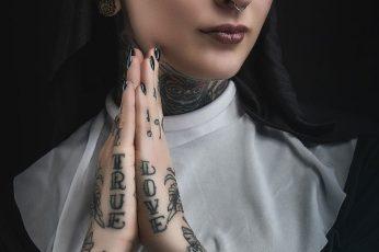 Wallpaper Tattoo, Nuns, 500px, Women, Model, Nose Rings