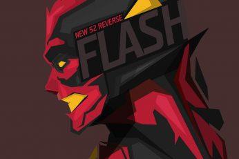 Wallpaper The Flash Illustration, Superhero, Dc Comics