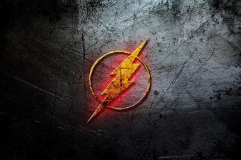 Wallpaper The Flash Logo, Background, Lightning, Comics