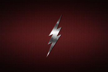 Wallpaper The Flash Logo, Minimalism, Blitz, Steel, Metal