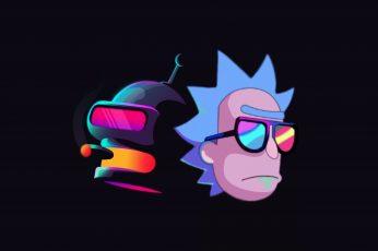 Wallpaper Tv Show, Crossover, Bender Futurama, Rick
