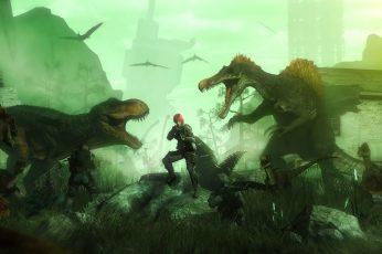 Wallpaper Two Dinosaurs Game Application Screenshot, Weapon