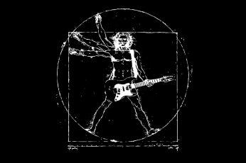 Wallpaper Vitruvian Man, Guitar, Rock, Music, Rock Music