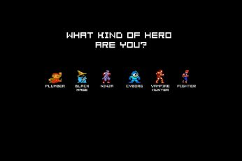 Wallpaper What Kind Of Hero Free You, 8 Bit, Minimal