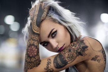Wallpaper Womens Grey Sleeveless Top, Face, Portrait, Model