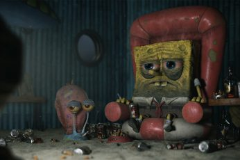 Wallpaper Yan Blanco, Spongebob, Cigarettes, Alcohol, Snail