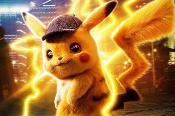 Wallpaper Yellow, Fiction, Cap, Pikachu, Detective, Pokémon