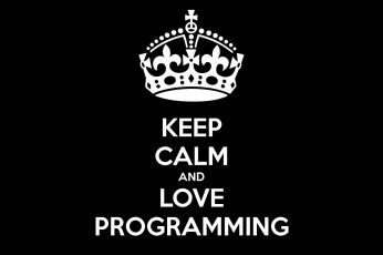 Coding Wallpaper, Keep Calm and Love Programming