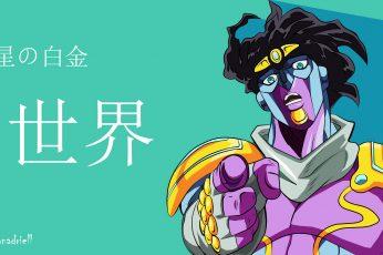 Wallpaper Anime, Jojos Bizarre Adventure, Star Platinum
