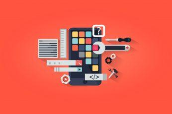 Wallpaper App Development App Design, Concept, Device