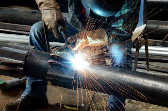 Wallpaper Black Metal Rod, Welder, Welding, Worker, Metall