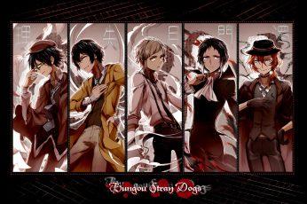 Wallpaper Bungou Stray Dogs, Anime Boys, Dazai Osamu