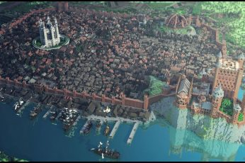 Wallpaper Castle Illustration, Minecraft, Westeroscraft