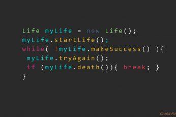 Wallpaper Code, Java, Programming, Life