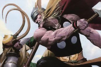 Wallpaper Comics, Thor, Loki, One Person, Human Body Part