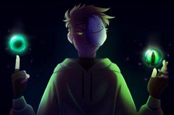 Wallpaper Dream Character, Dark, Mask, Minecraft, Youtube