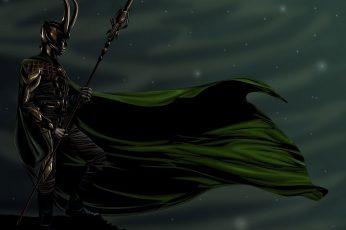 Wallpaper Fantasy, Gods, Loki, Water, Nature