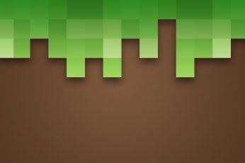 Wallpaper Green And Black Minecraft Background, Dirt, Grass