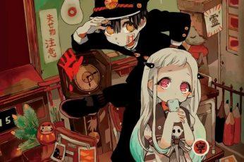 Wallpaper Jibaku Sounen Hanako Kun, Amane Yugi, Yashiro Nene